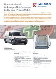 Datenblatt PharmaAusbau - Hahlbrock