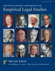 Program - Yale Law School - Yale University