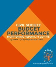CSBAG Budget monitoring performance report FY2014-15
