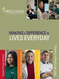 2007-8 College Catalog - Mercy College of Health Sciences