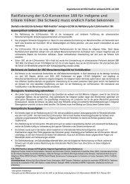 Ratifizierung der ILO-Konvention 169 - Gesellschaft für bedrohte ...