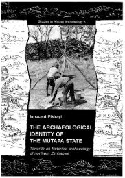 towards an historical archaeology of northern Zimbabwe.