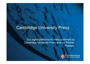 Cambridge University Press - DEFF
