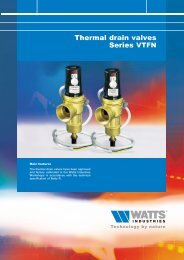 Thermal drain valves Series VTFN - Watts Industries