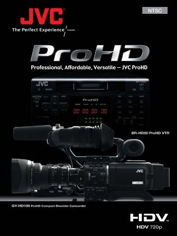 JVC Camera Brochure - Picture This Production Services