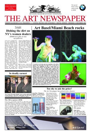 Art Basel/Miami Beach rocks - The Art Newspaper