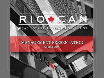View this Presentation (PDF 7.01 MB) - RioCan