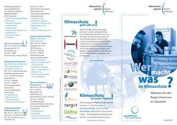 Wer macht was im Klimaschutz? - hannoverimpuls