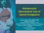 Adolescents Nonmedical Use of Opioid ... - the ATTC Network