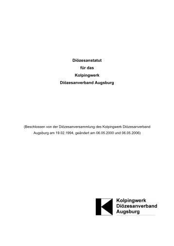 Satzung Kolpingwerk Diözesanverband Augsburg - Kolpingjugend ...
