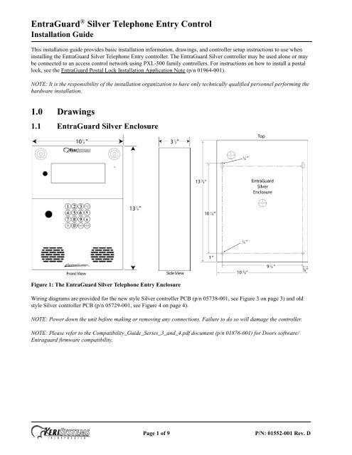 [DIAGRAM_5FD]  EntraGuard® Silver Telephone Entry Control 1.0 ... - Keri Systems | Keri Access Wiring Diagram |  | Yumpu