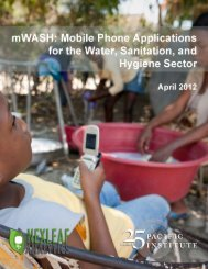 mWASH: Mobile Phone Applications for the Water ... - Pacific Institute