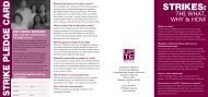 STRIKES: STRIKE PLEDGE CARD - UPTE-CWA 9119
