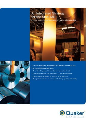 An Integrated Strategy for the Steel Mill - Folder - Quaker Chemical ...
