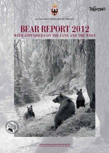 BEAR REPORT 2012 - Orso