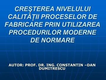 Prezentare Constantin Dumitrescu - UPT - Tehimpuls