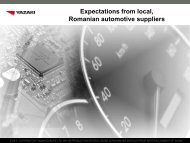 Expectations from local, Romanian automotive suppliers - InnoBoost