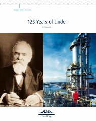 The complete history of the development of The - The Linde Group