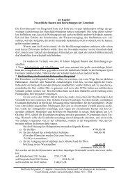 25. Kapitel Neuzeitliche Bauten und Einrichtungen der Gemeinde ...
