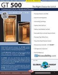 GT500 LU/LA - Global Tardif Groupe manufacturier d'ascenseurs