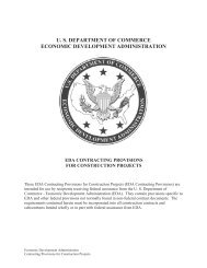 EDA Contracting Provisions for Construction Projects