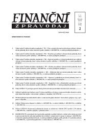 Finanční zpravodaj 2/2012