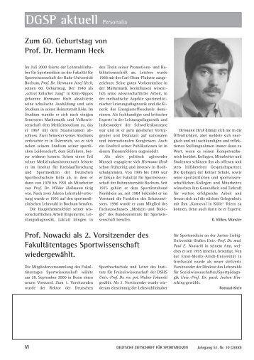 Zum 60. Geburtstag Von Prof. Dr. Hermann HeckProf. Nowacki Als 2 .