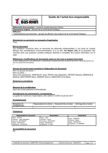 document conseil general bas rhin guide achat eco responsable 2011