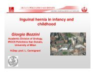 Inguinal hernia in infancy and childhood Giorgio Bozzini - eshre