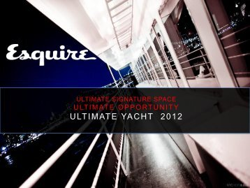 2012 ULTIMATE YACHT 2012