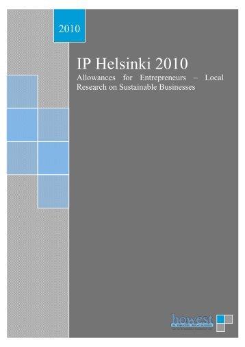 IP Helsinki 2010 - IP Entrepreneurship