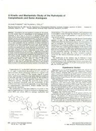 A Kinetic and Mechanistic Study of the Hydrolysis of