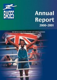 BASES Annual report 2000