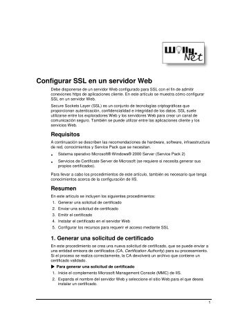 Configurar SSL en un servidor Web - Willy .Net