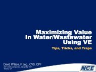 Maximizing Value In Water/Wastewater Using VE