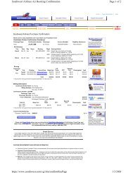 Page 1 of 2 Southwest Airlines Air Booking Confirmation 1/3/2009 ...
