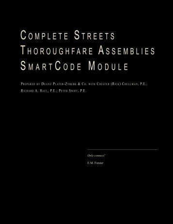 COMPLETE STREETS THOROUGHFARE ASSEMBLIES S MART C ...