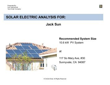 Residential Short Length Proposal Example Ongrid Solar