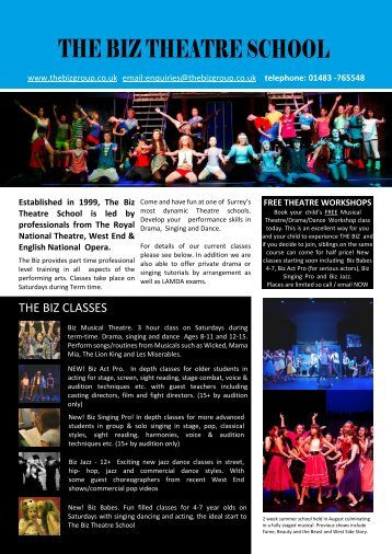 ABOUT US - Biz Theatre School, The