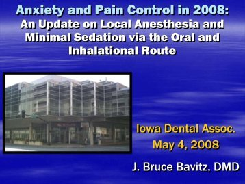 An Update on Local Anesthesia and Conscious Sedation for the ...
