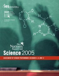 NAEP Science Results, 2005 - Geography Education National ...