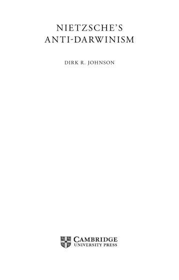 Nietzsche's Anti-Darwinism - The Divine Conspiracy