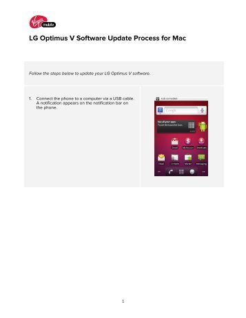 LG Optimus V Software Update Process for Mac