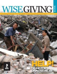 Help! Giving for Disaster Relief - Better Business Bureau