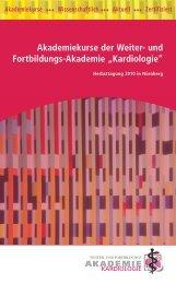 """Akademiekurse der Weiter- und Fortbildungs-Akademie """"Kardiologie"""""""