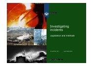 Investigating incidents