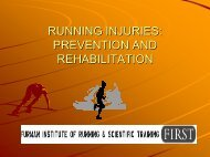RUNNING INJURIES: PREVENTION AND REHABILITATION