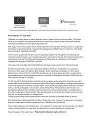 Donwload press release (PDF) - Welthungerhilfe