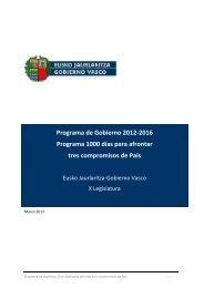 Programa de Gobierno 2012-2016 - Euskadi.net