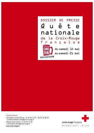 dos presse quete 2011_Dos press CHICK - Croix-Rouge française